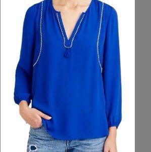 J Crew Cobalt blue blouse